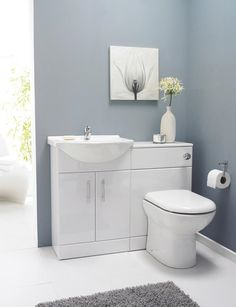 Saturn Furniture Pack 1050mm Bathroom Vanity WC Unit inc BTW Toilet We have created this suite to make it easier for you to complete and by your