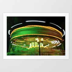 Neon Circus  Art Print by Big Red Button - $18.72