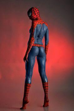 spider girl body paint
