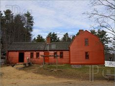 old new england homes | Picture Of Red Colonial Home. Image To Download by FeaturePics.com
