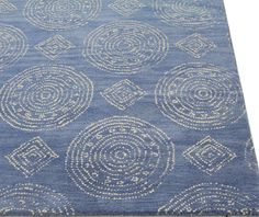 Villanova Hand-Tufted Denim Area Rug