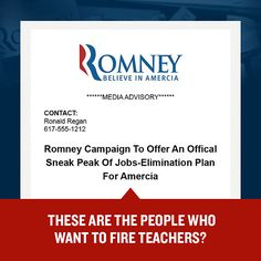 Mitt Romney says we need fewer teachers—but judging by his campaign's spelling, we could use a few more.