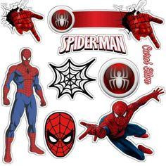 Spiderman Cake Topper, Spiderman Theme, Spiderman Stickers, Frozen Paper Dolls, Party On Garth, Wonder Woman Birthday, Blue Nose Friends, Logo Gallery, Avengers Birthday