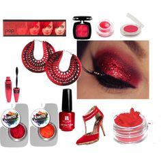 """Red sparkles"" by dstavridou on Polyvore"