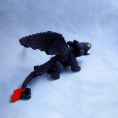Dragon Toothless CROCHET PATTERN / Toothless by tinyAlchemy