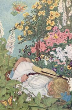 1908 Children's Book Illustrations | Content in a Cottage