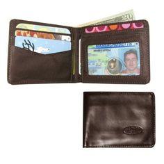 Big Skinny Brown Leather Multi-Pocket Bifold Wallet #walletnation