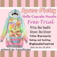 follow@spreepicky, hashtag #sphoodiefreetrial ! Enjoy Xmas Promotion!