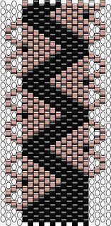 .............CHEEKYBEADS.....: Szíves peyot kari minta/ peyote bracelet pattern with hearts