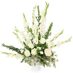 Dignity in White is just one of the many funeral floral arrangements available on Frazer Consultants' Tribute Store, an online flower store available on all Frazer-powered funeral home websites. Funeral Floral Arrangements, Flower Arrangements, Home Websites, Oakland Raiders Fans, Philadelphia Eagles Fans, Patriots Fans, Tribute, Funeral Flowers, Local Florist
