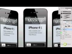 iphone 4s psd vector mockup template - PIXEDEN - YouTube