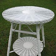 Round Bar Harbor Wicker Table