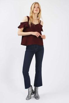 Cold Shoulder Frill Top - New In This Week - New In - Topshop Europe