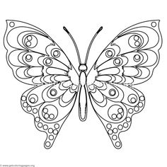 Pretty butterfly Coloring Pages Beautiful Free to butterfly 7 Coloring Pages Coloring Butterfly Sketch, Butterfly Quilt, Butterfly Template, Butterfly Painting, Butterfly Wallpaper, Butterfly Art, Butterflies, Dog Coloring Page, Animal Coloring Pages