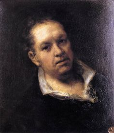 GOYA Y LUCIENTES, Francisco de  Self-Portrait  1815  Oil on panel, 51 x 46 cm  Museo de la Real Academia de San Fernando, Madrid
