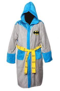 c6bfb0559b DC Comics Batman Vintage Grey Men s Hooded Bathrobe Batman Gifts