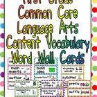 This packet has word cards for important vocabulary words in the Language Arts Common Core State Standards for First Grade. This will allow you to ...