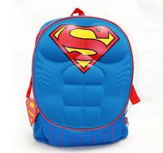 """DC Comics Superman 3D Molded Chest 16"""" Backpack School Bag- Super Man SUPERHERO #DCComics #Backpack"""