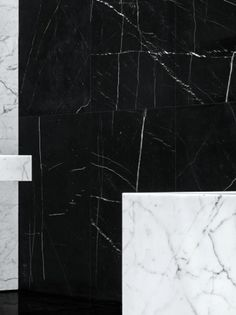 Tenebris: Black and white marble. Commercial Interior Design, Commercial Interiors, Store Concept, Saint Laurent Store, Black And White Marble, Hedi Slimane, Texture Photography, Retail Interior, Marble Pattern