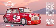 Project '64 Boneville Mini - the world's fastest mini, holder of the Bonneville land speed record for competition coupes under 1000cc at 146.6mph.