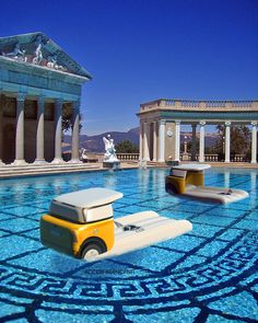 This would be awesome! Now if only I could find a pool this big.....