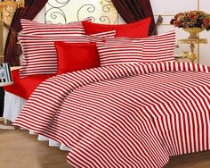 #Bedsheets #Home #HomeCandy #offers2go Home Cotton Striped Double Bedsheet http://offers2go.com/home/productinfo/1632 …