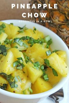 A recipe for making a favorite Trinidad street snack of chopped pineapples and seasoning.