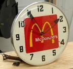 Dr Pepper advertising display clock by PAM Restaurant Advertising, Mcdonald's Restaurant, Dr Pepper, Mcdonalds, Coke, Old Things, Chairs, Stuffed Peppers, Display