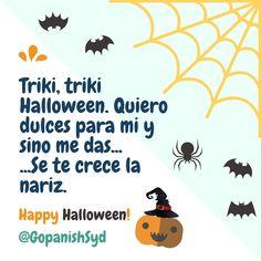 Feliz día de las brujas! #Halloween #ILoveSpanish