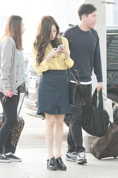 [150412] Tiffany at Incheon Airport going to Philippines