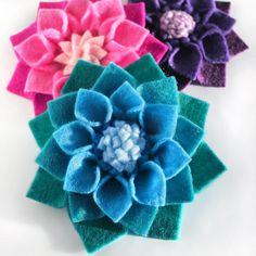 How to Make No Sew Felt Flowers | OFS Maker's Mill