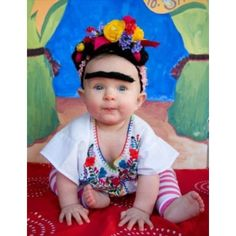 So cute! Frida Kahlo photo by Rachel Starmer.fav artist plus adorable baby=great photo ops Halloween Bebes, Baby Halloween Costumes, Baby Costumes, Halloween Diy, Halloween Clothes, Halloween Birthday, Costume Frida Kahlo, Cute Kids, Cute Babies
