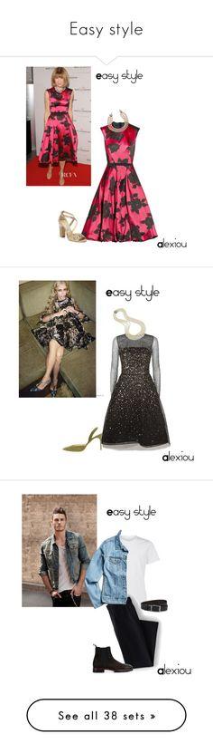 """Easy style"" by alexiouq ❤ liked on Polyvore featuring Jimmy Choo, Chanel, Oscar de la Renta, Manolo Blahnik, Lands' End, BDG, HUGO, Christian Louboutin, Atsuko Kudo and Verali"