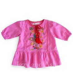Mimi and Maggie Girls Little House Dress|Mimi and Maggie Fall 2017|Girls Dresses|Pink Dresses|Happiness Collection #baby #babies #toddler #girls #tween #girls #pink #fuchsia #embroidery #floral #flowers #dress #dresses #clothing #fashion #designer #children #kids