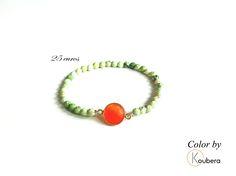 #koubera #accessoire de mode #bijoux #bracelet #pierre #agate #argent #color #mode #femme #2015
