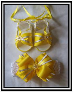 ,) Baby Girl Sandals, Crochet Baby Sandals, Baby F, Baby Tutu, Ribbon Work, Bare Foot Sandals, Hair Bows, Headbands, Doll Clothes