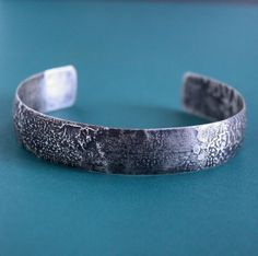 Men's Rugged Silver Cuff Bracelet Sterling Silver Cuff Bracelet, Silver Bangle Bracelets, Bracelets For Men, Silver Metal, Jewelry Making, Rustic, Products, Etsy, Women