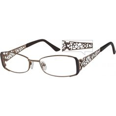 e81701bd2f A hypoallergenic stainless steel full-rim frame with sparkling crystals on  the design temples. Glasses FramesEye ...