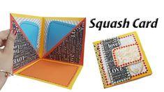DIY Squash Card Tutorial   How to Make Squash Card for Scrapbook   JK Arts 1372 - YouTube