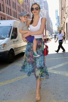 New York - July 8 2013  Miranda Kerr and son Flynn Bloom.  #style #fashion