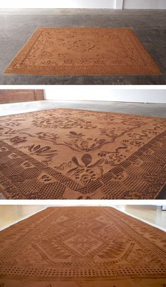 Artist Rena Detrixhe uses her hometown's red earth to create beautifully patterned, ephemeral rugs.