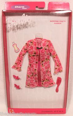 New Fashion Avenue Barbie Charm Bathtime Chat Robe Fashion Doll Clothes 1999 | eBay
