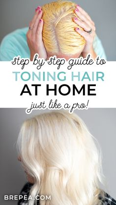 Dying Hair Blonde, Cool Toned Blonde Hair, Toning Blonde Hair, Blonde Hair Tips, Toner For Blonde Hair, Bleach Blonde Hair, Best Blonde Toner, Going Blonde From Brunette, At Home Hair Toner