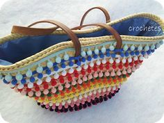 Crochetes: Másssssss capazosssssss!!!!!                                                                                                                                                                                 Más My Bags, Purses And Bags, Ibiza, Ethnic Bag, Boho Bags, Basket Bag, Summer Bags, Handmade Bags, Leather Jewelry