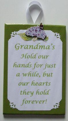 Grandma wall decoration Grandma poem Grandma by mareestreasures