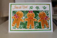 Ce set là m'a beaucoup plut aussi, car il offre de multiples possibilités avec ces emporte-pièces en forme de Malélé, ce fameux gâteau Alsaciens incontournable à Noël. J'ai crée cette carte en pensant à eux et à la joie de croquer dans ce fameux pain...