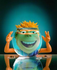 Gery Lebecq: www.folioart.co.uk/illustration/folio/artists/illustrator/gery-lebecq - Agency: www.folioart.co.uk - #illustration #art #3Dmodelling #fishbowl