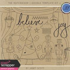 The Nutcracker - Doodle Template Kit 2