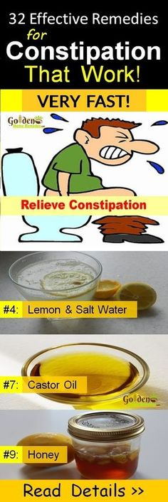 Natural Home Remedies Constipation Treatment: 32 Effective Home Remedies to Relieve Constipation Immediately and Naturally, What Causes Constipation and Symptoms, How To Get Rid Of Constipation? Natural Laxatives for Fast Constipation Relief, Read More. Holistic Remedies, Natural Home Remedies, Herbal Remedies, Health Remedies, Stomach Remedies, Natural Healing, Home Remedies Constipation, Help Constipation, Constipation Relief Quick