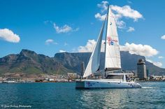 Sailing in The Bay (One Hour) Sailing Catamaran, Table Mountain, Boat Tours, Cape Town, Beautiful World, Wonders Of The World, Boats, Boating, Ships